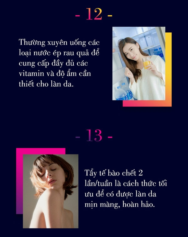 25 quy tắc chăm sóc da phái đẹp nên nằm lòng