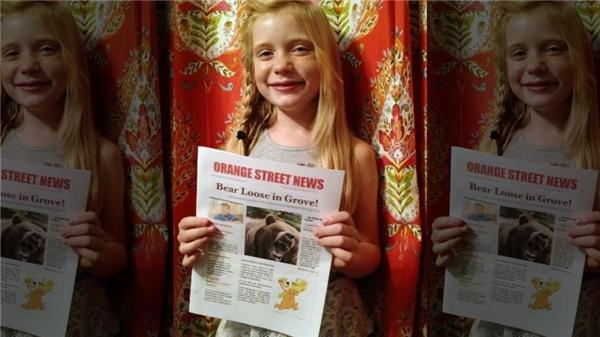 cô bé 9 tuổi làm nhà báo