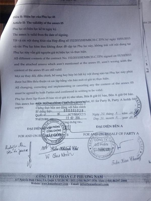 Nội dung bản hợp đồng do phía Thu Minh cung cấp với báo chí sáng ngày 7/4. - Tin sao Viet - Tin tuc sao Viet - Scandal sao Viet - Tin tuc cua Sao - Tin cua Sao