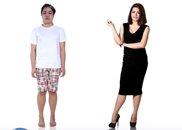 """Apisara """"Kwang"""" Pholbhumirak có thân hình mũm mĩm và có phần thô kệch trước khi tham gia Let Me In Thailand. Sau phẫu thuật thẫm mỹ, kể cả bạn trai của Kwang cũng không tin được người yêu của mình đã trở nên xinh đẹp như thế này."""