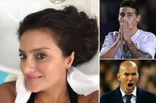 Mẹ James Rodriguez mỉa mai HLV Zidane vì cho con trai cưng ngồi ghế dự bị. (Ảnh: Internet)