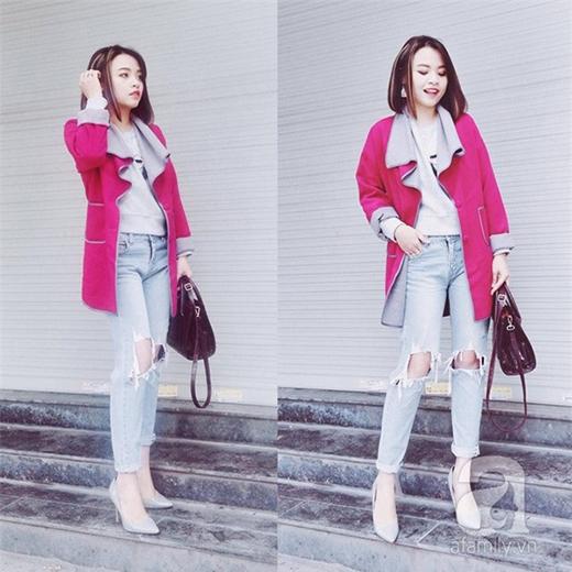 Giảm cân thành công Quỳnh Anh dễ dàng ăn mặc theo sở thích