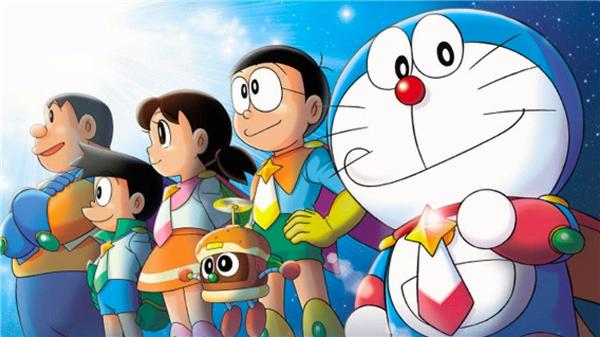 Phim hoạt hình Doraemon được mua bản quyền và phát sóng trên Disney Channel.