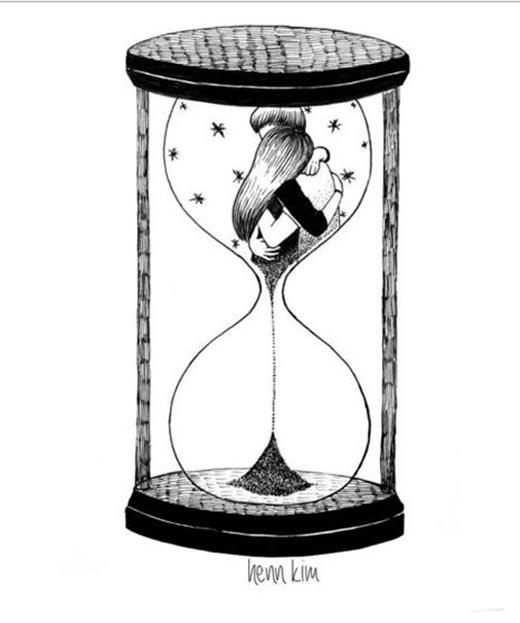 """Bạn nghĩ rằng tình yêu trường tồn với thời gian ư? Thời gian không có điểm bắt đầu hay kết thúc còn tình yêu ắt có ngày dừng lại. Vậy nên """"hãy nói yêu thôi đừng nói yêu mãi mãi"""".(Ảnh: Internet)"""