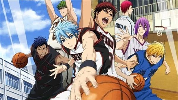 Kuroko no Basket kể về những nỗ lực của một đội bóng rổ trường trung học trên con đường phấn đấu vươn tới giải quốc gia.(Ảnh: Internet)