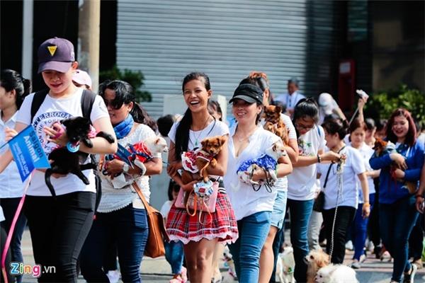 Cô gái cũng tham gia các hoạt động đội nhóm, kêu gọi tuyên truyền về ý thức bảo vệ và chăm sóc động vật.