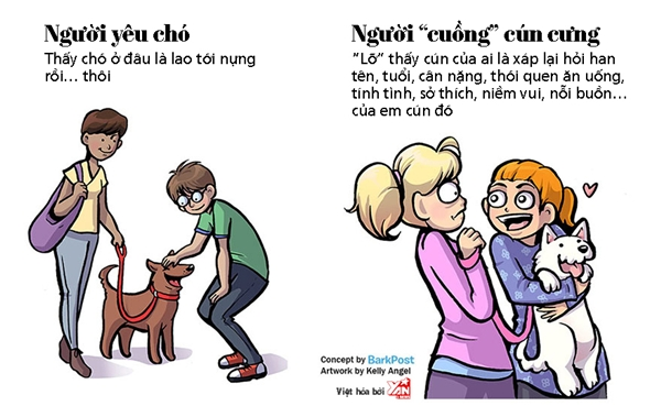 """Điểm khác nhau giữa người yêu chó và """"cuồng"""" cún cưng là đây"""