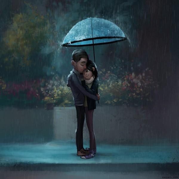 Ở bên anh, em luôn được chở che.
