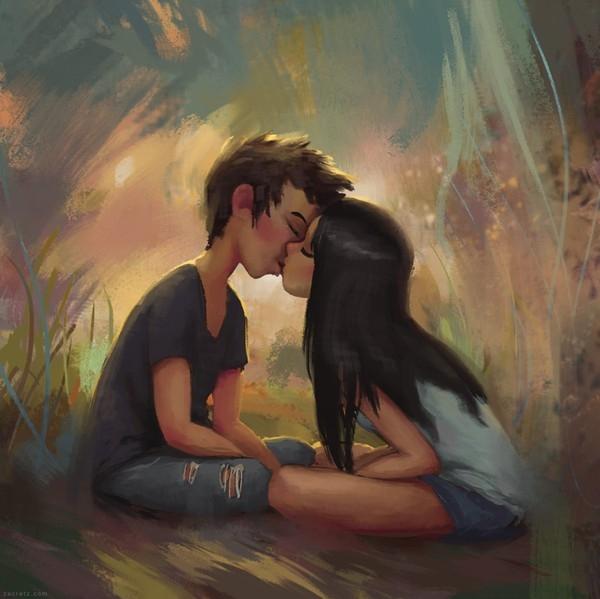 Trao nhau nụ hôn trong sáng