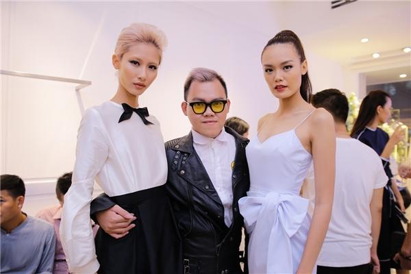 Hai người mẫu Thanh Thảo, Hằng Nguyễn cũng tới chung vui trong sự kiện lần này.