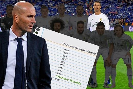 Ronaldo luôn mặc định có mặt trong đội hình xuất phát dù Real cần xoay tua. (Ảnh: Internet)