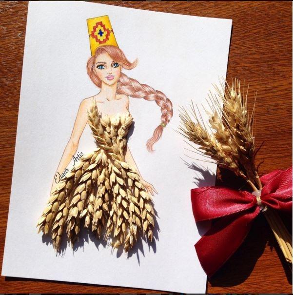 Vẻ đẹp thanh tao, nhẹ nhàng của những chùm lúa mạch đang độ chín với sắc vàng mê hoặc.