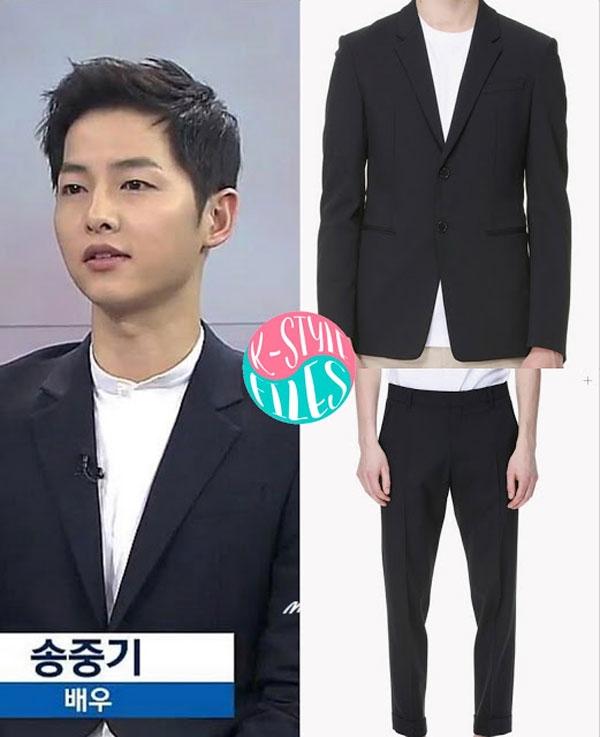 Bóc giá loạt đồ đen 'cực cool' của đại uý Song Joong Ki