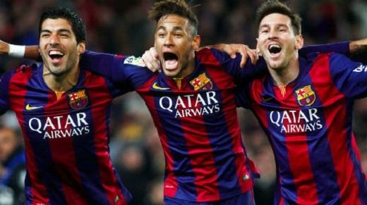 """.... cùng bộ đôi Lionel Messi - Neymar. """"Vua bóng đá"""" hoàn toàn phớt lờ Luis Suarez"""