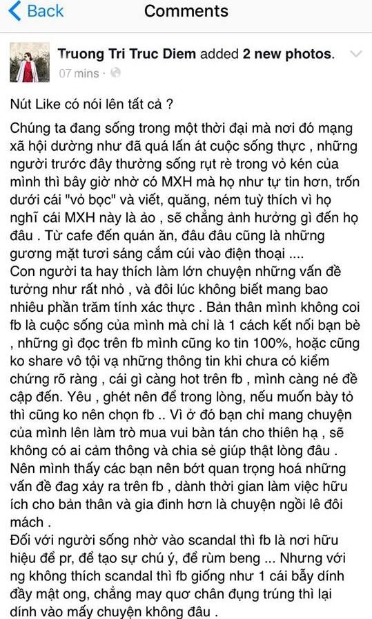 Trúc Diễm lên tiếng chuyện love trạng thái mạt sát Ngọc Trinh - Tin sao Viet - Tin tuc sao Viet - Scandal sao Viet - Tin tuc cua Sao - Tin cua Sao