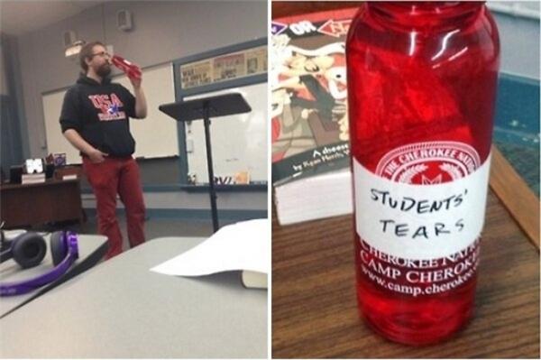 Đây là những gì thầy giáo đã uống, dường như có gì đó không được bình thường cho lắm.