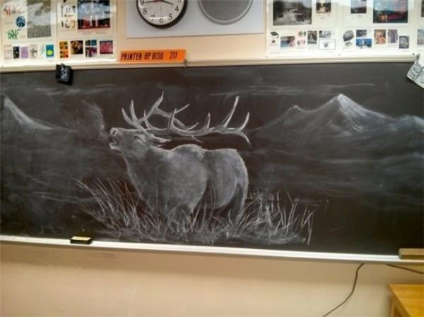 Mỗi ngày, giáo viên dạy mỹ thuật lại vẽ ra những hình ảnh tuyệt vời để truyền cảm hứng cho học sinh của mình.