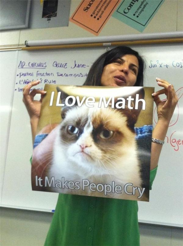 Cảm giác hài hước giúp bạn thích học toán hơn.