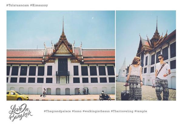 Cặp đôi Việt chụp ảnh cưới kiểu check in ở Bangkok