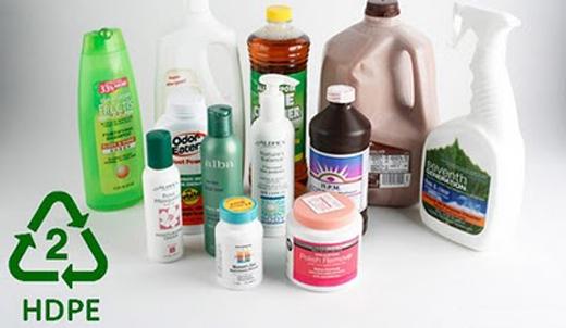 Sản phẩm: chai nhựa đựng sữa tắm hoặc hộp nhựa đồ ăn.(Ảnh: Internet)
