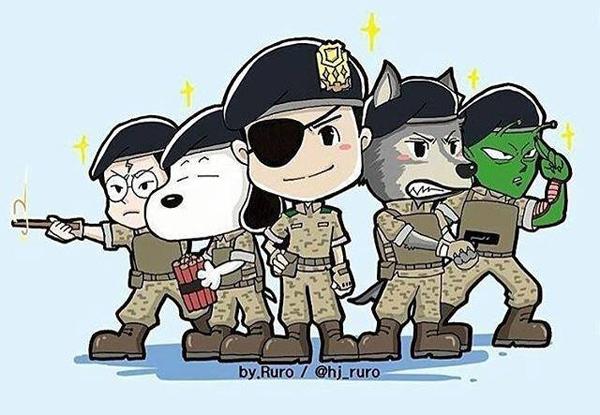 Đội Alpha phiên bản chibi. (Ảnh: Internet)