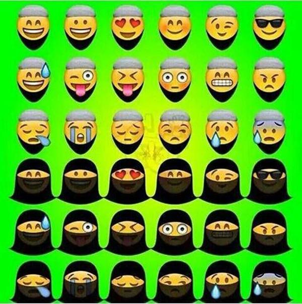 Đáng chú ý nhất là loạt biểu tượng đeo mạng che mặt.(Ảnh: Internet)