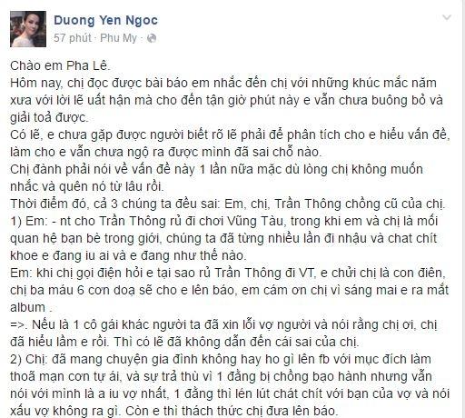 Dương Yến Ngọc: Từ nay, Pha Lê đừng nhắc đến tên tôi!