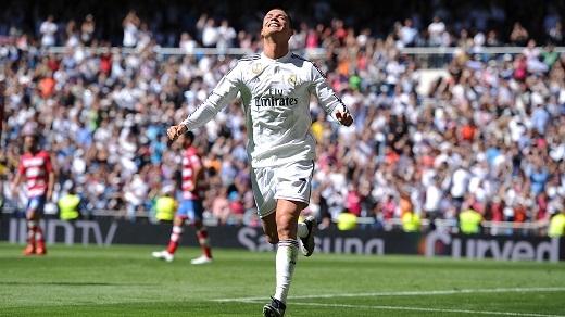 Ronaldo vừa ghi bàn trong chiến thắng trước Eibar. (Ảnh: Internet)