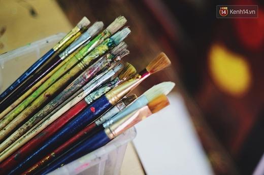 Những chiếc bút vẽ... (Ảnh: Internet)