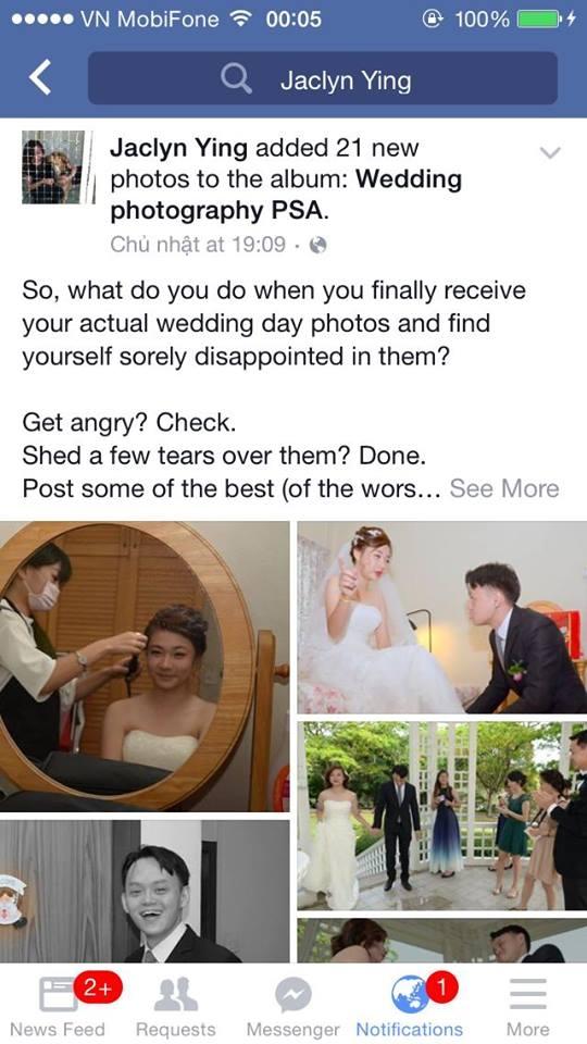 Những bức ảnh cưới của một căp đôi ngườiSingapore được lan truyền trên mạng xã hội.