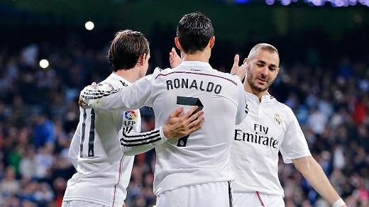Đêm nay, Ronaldo - Bale - Benzema sẽ là niềm hi vọng của Real Madrid. (Ảnh: ESPN)