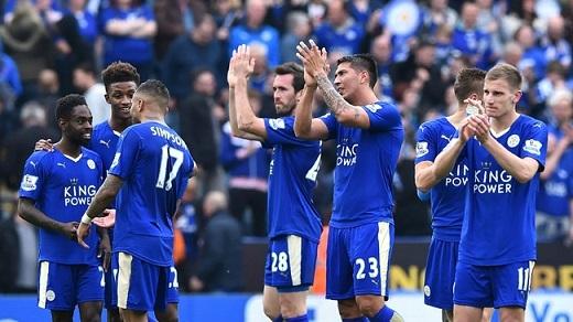 Leicester City chỉ còn cách chức vô địch 4 chiến thắng. (Ảnh: Internet)