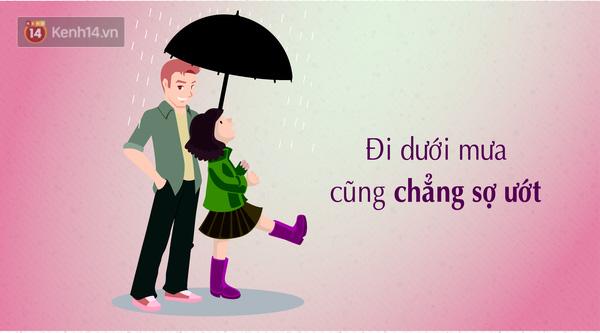 Chẳng ngại mưa, chẳng ngại nắng khi bóng của chàng luôn có thể che chắn cho bạn