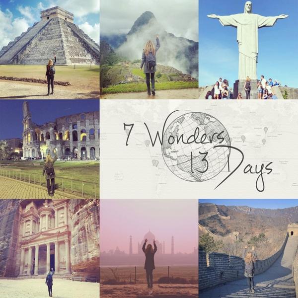 Chuyến hành trình qua7 Kỳ quan Thế giới trong vòng 13 ngày củaMegan.(Ảnh: Megan Sullivan)