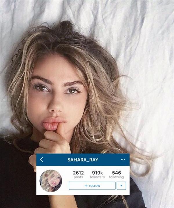 Sahara Ray, cô nàng xinh đẹp với đôi mắt sáng và bờ môi căng mọng.