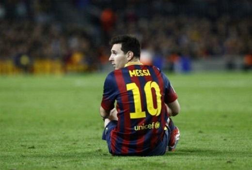 Messi không ghi bàn, không kiến tạo trong 4 trận gần nhất cho Barca. (Ảnh: Internet)