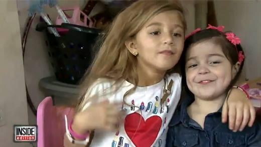 Cuộc gặp gỡ xúc động của hai cô bé có quả tim ngoài lồng ngực