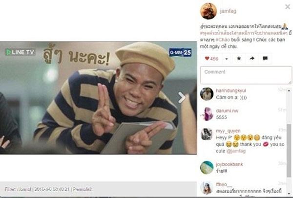 Sao 'Tình yêu không có lỗi' chào fan bằng tiếng Việt