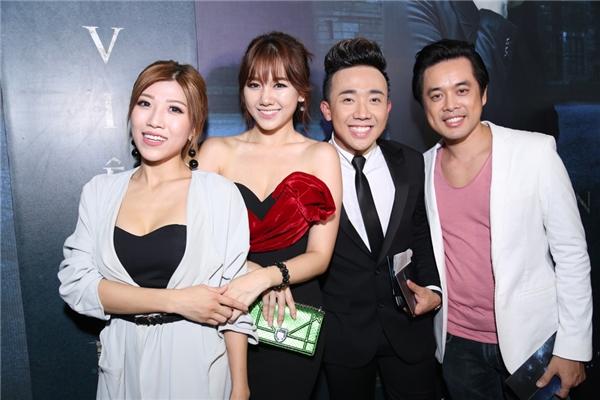 Hari Won và Trấn Thành rạng rỡ bên cạnh nhạc sĩ Dương Khắc Linh - Trang Pháp