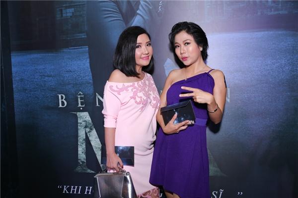 Nữ diễn viên Ngân Quỳnh (bên trái)