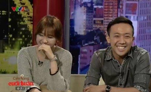Hari Won và Trấn Thành tại chương tình Cafe sáng. - Tin sao Viet - Tin tuc sao Viet - Scandal sao Viet - Tin tuc cua Sao - Tin cua Sao