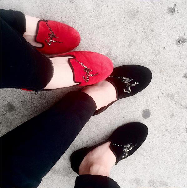 Bộ sưu tập giày của quý cô Anh Sa với đủ thương hiệu, trong đó có Valentino được cô nàng thường xuyên sử dụng