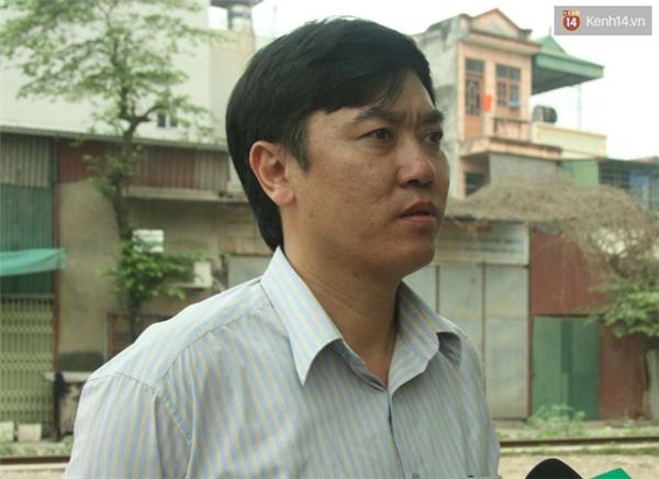 Ông Phạm Nguyễn Chiến, Phó Giám đốc Công ty Cổ phần Đường sắt Hà Thái.