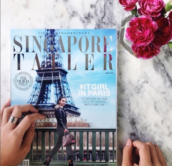 Kim Lim là gương mặt trang bìa khá quen thuộc trên một số tạp chí danh tiếng trong và ngoài Singapore.