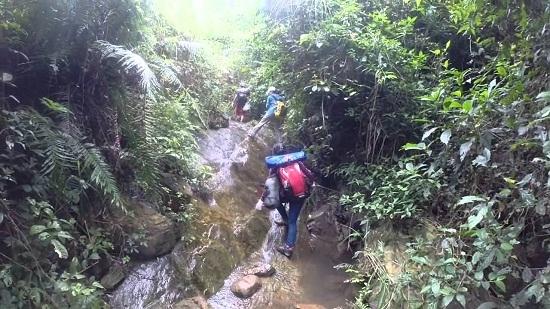 Đường leo lên núiHàm Lợncũng được chia làm 2 đường khác nhau cho du khách lựa chọn.(Ảnh: Internet)
