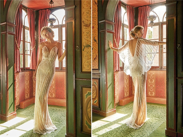 Thiết kế củaSolo Merav lấy ý tưởng từ những cánh bướm thiên thần. Ngày cưới là ngày bạn bắt đầu cuộc sống mới, cũng là ngày đôi cánh kia đưa bạn đến khung trời mà bạn mơ ước.(Ảnh:Internet)