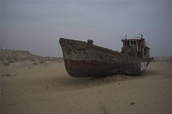 Muynak từng là thành phố cảng nhộn nhịp ở Uzbekistan, nhưng đã trở nên hoang phế sau khi biển Aral cạn nước và biến thành sa mạc. Nhiều chiếc tàu han gỉ vẫn còn tồn tại ở thành phố này.