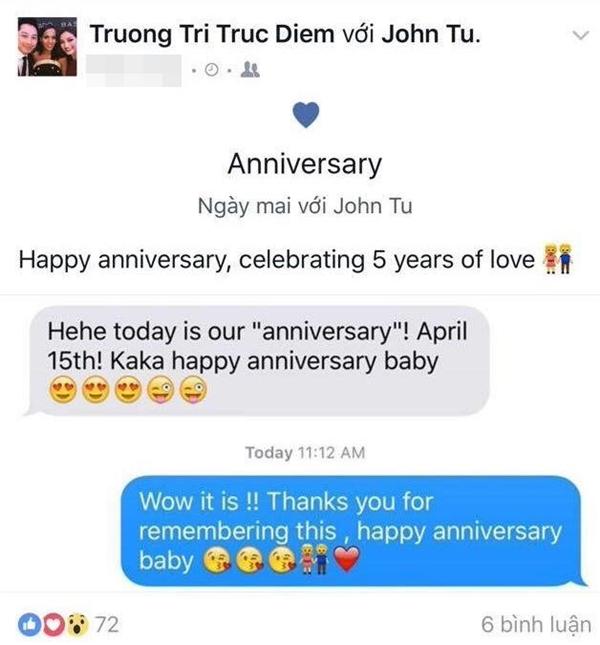 """Trương Tri Trúc Diễm hạnh phúc """"khoe"""" kỉ niệm 5 năm yêu nhau cùng chồng. - Tin sao Viet - Tin tuc sao Viet - Scandal sao Viet - Tin tuc cua Sao - Tin cua Sao"""