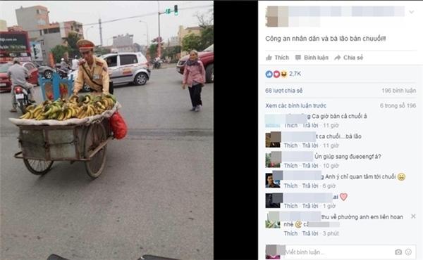Bức ảnh hiện thu hút gần 3.000 like (thích), cùng hàng trăm bình luận, chia sẻ. Ảnh chụp màn hình.