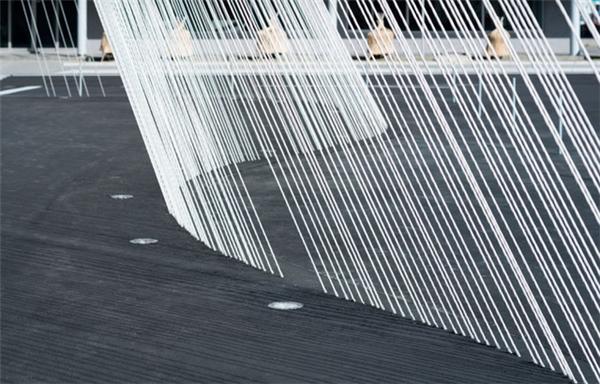 Không chỉ bền, chắc, sợi carbon còn tạo nên thiết kế công trình đẹp mắt và ấn tượng